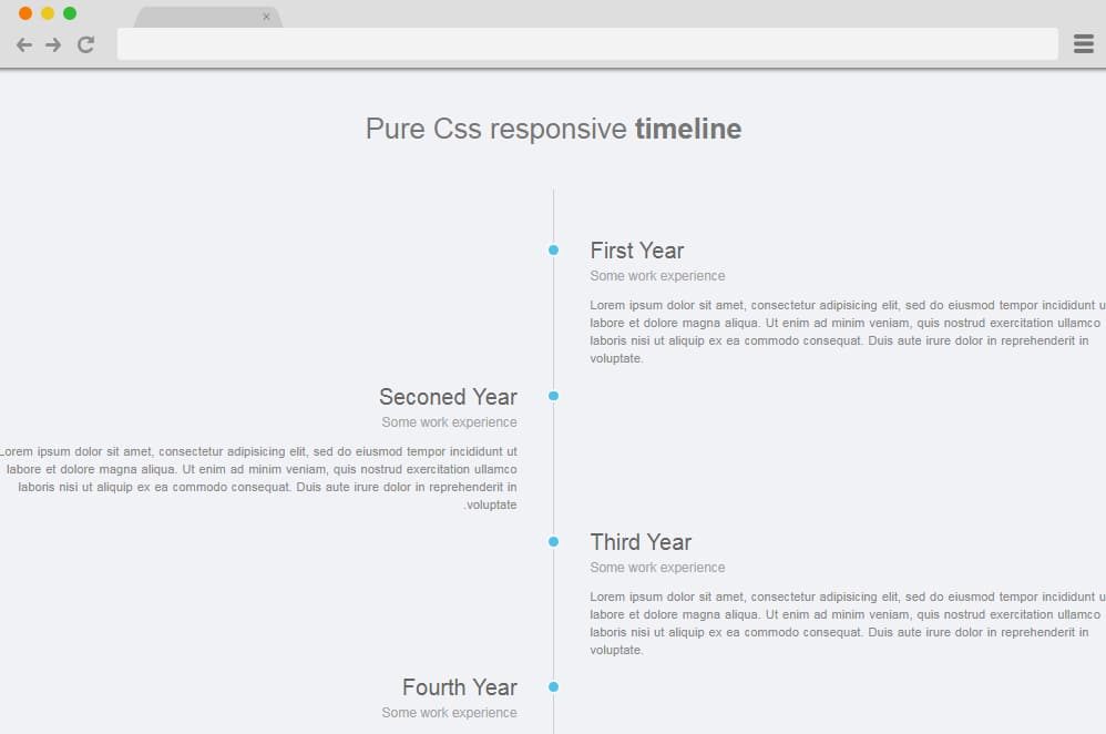 Simple Responsive Vertical Timeline with CSS vertical timeline
