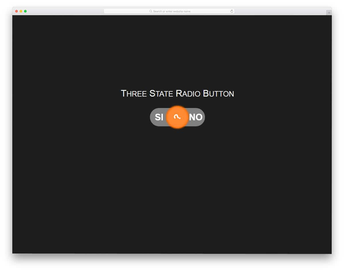 Three-State-Radio-Button