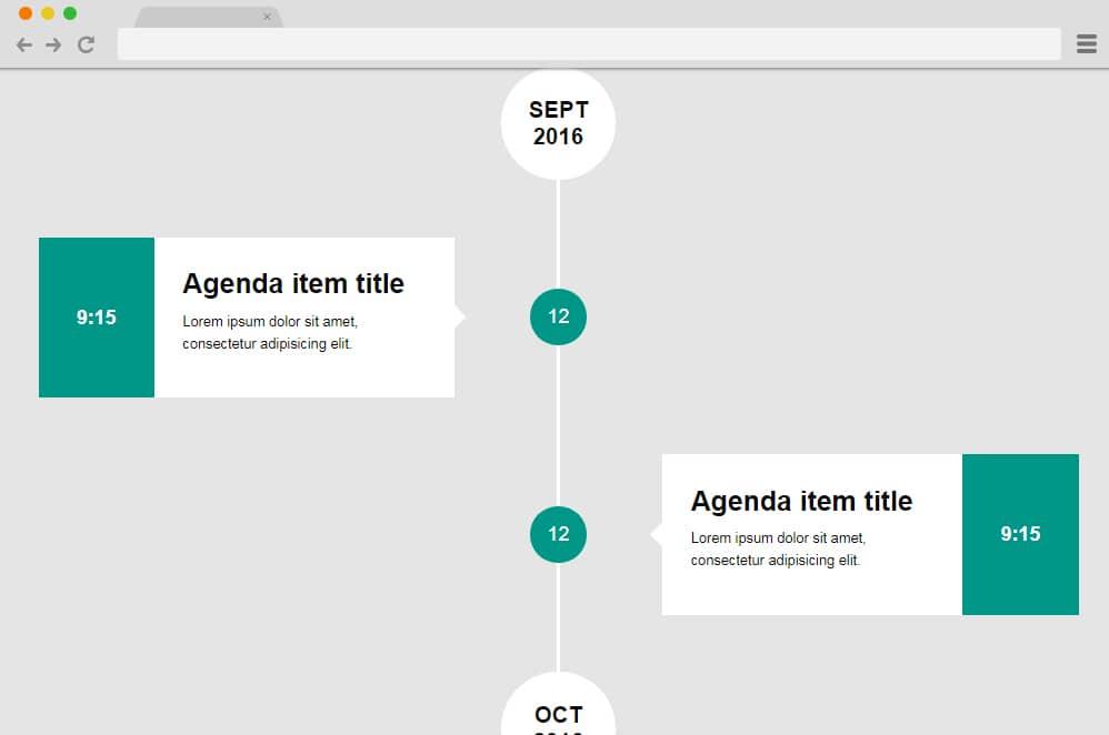 Vertical TImeline Agenda vertical timeline