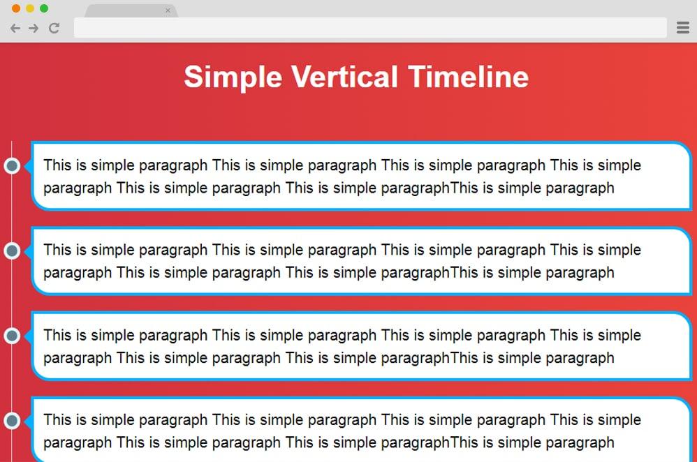 Vertical Timeline by Abdelilah vertical timeline