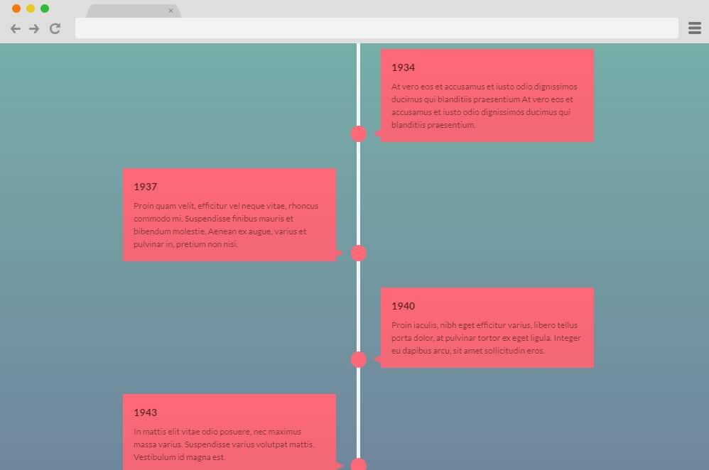 Vertical Timeline by Alexander vertical timeline