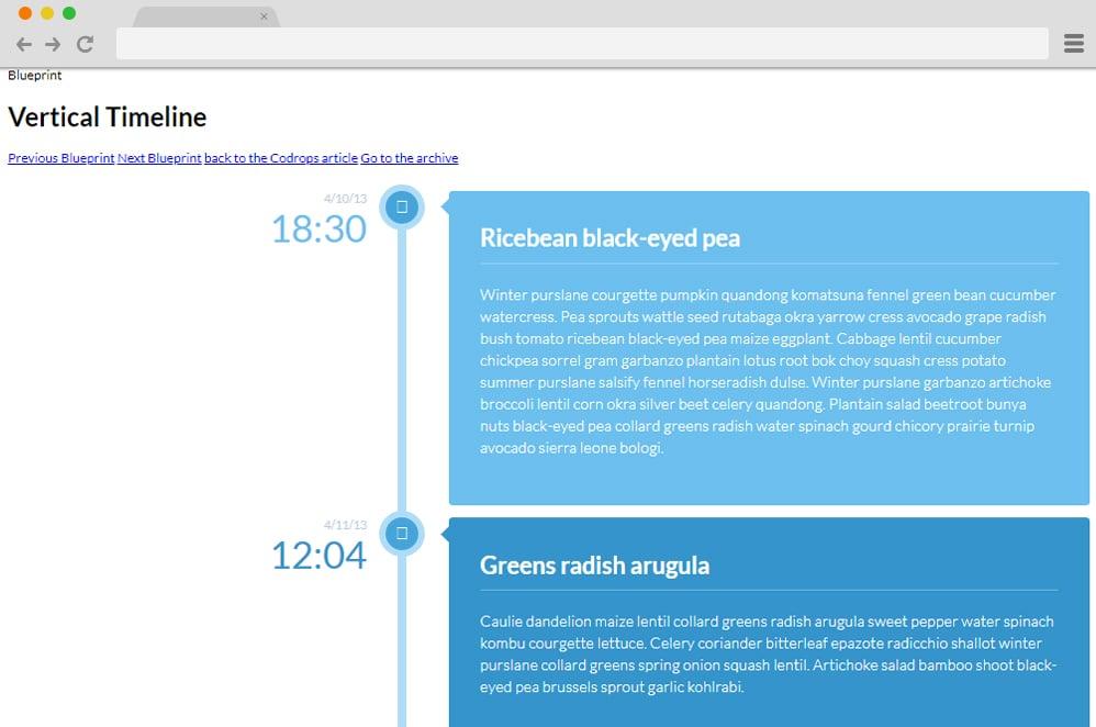 Vertical Timeline by Dipen Chauhan vertical timeline