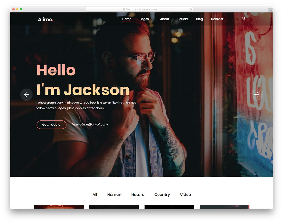 alime-free-personal-website-templates