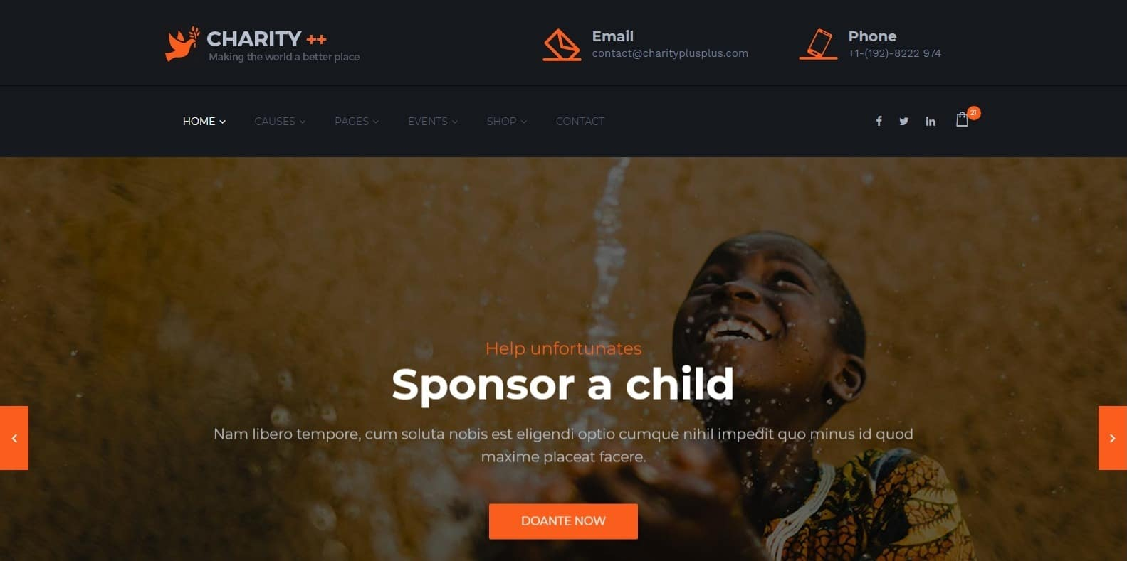 charity plus-church-website template