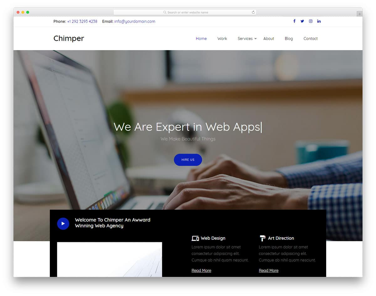 chimper-free-landing-page-templates