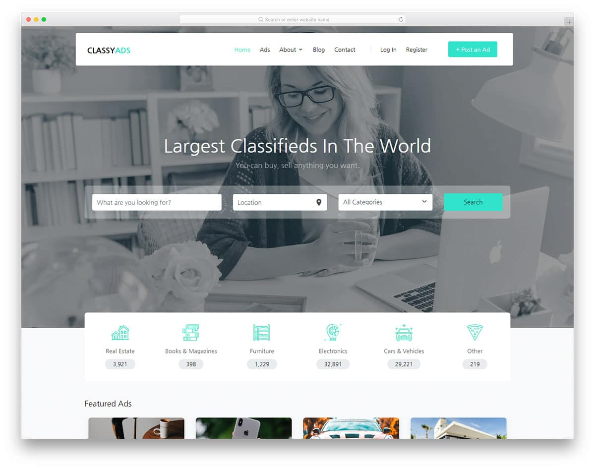 classyads-free-bootstrap-website-templates