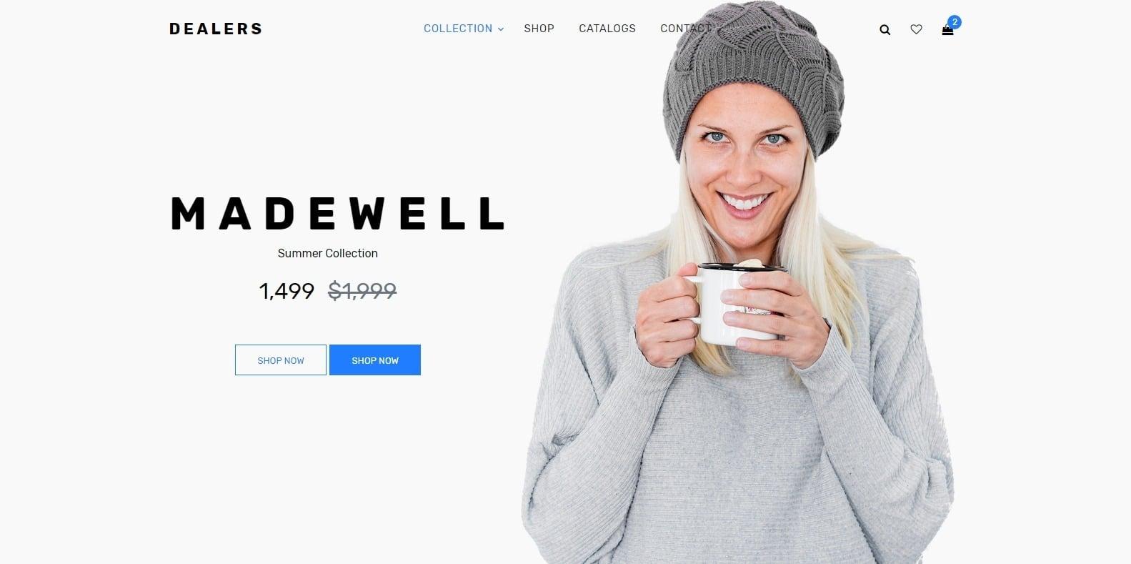 dealers-shop-website-template