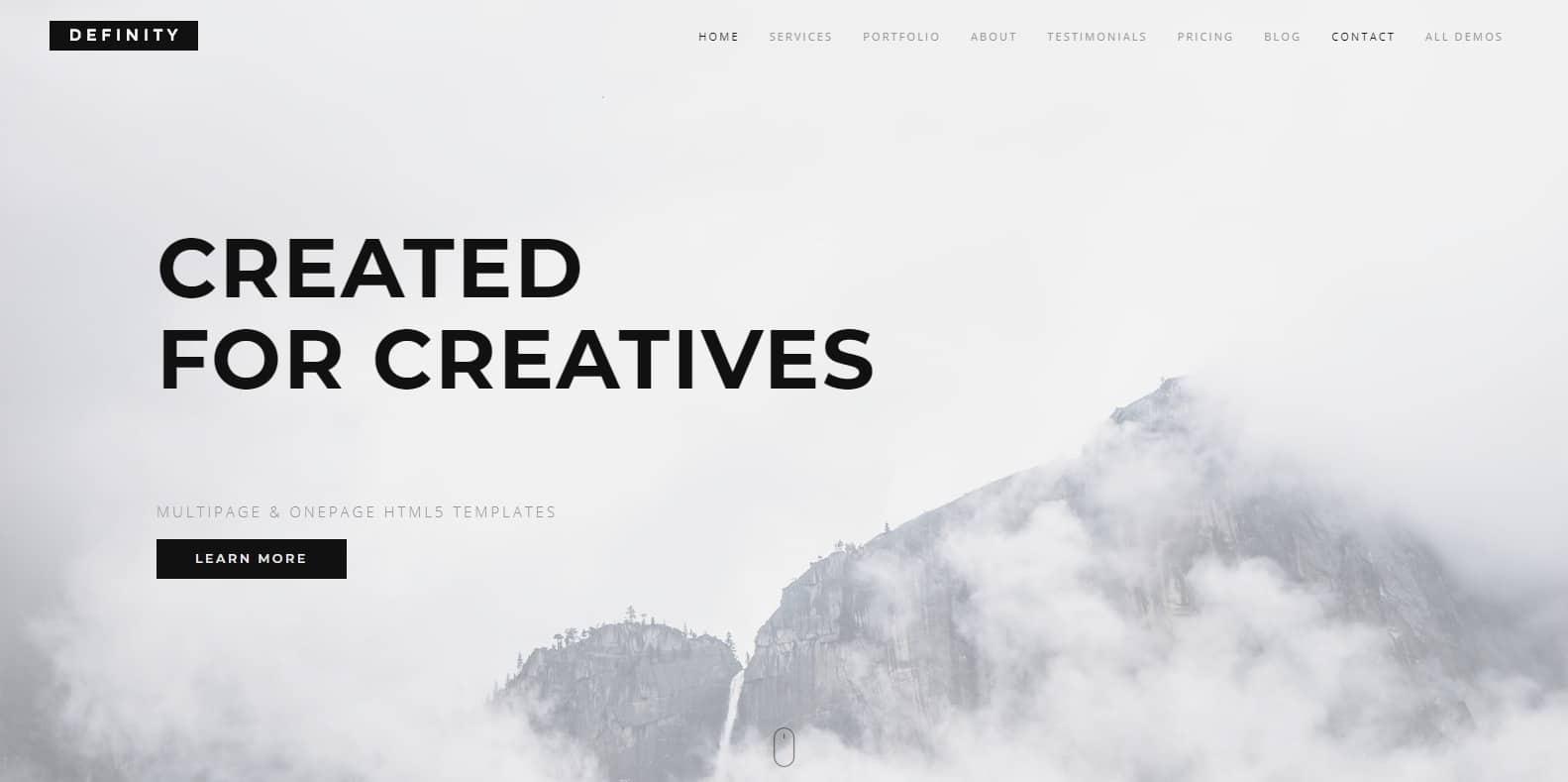 definity-blog-website-template