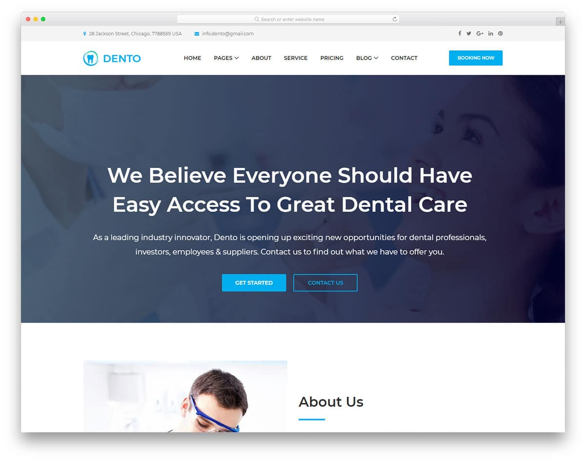 dento-free-medical-website-templates