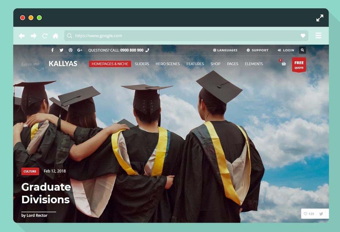 education-website-template