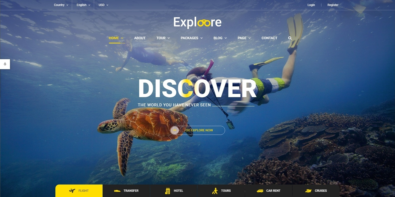 exploore-travel-website-template