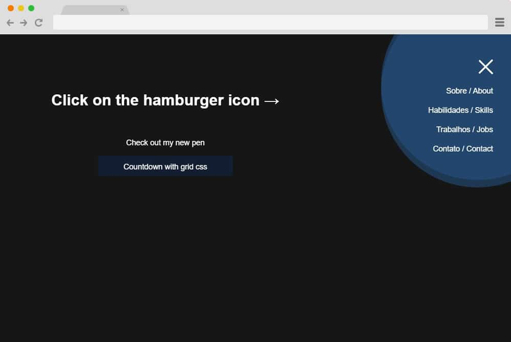 hamburger icon with morphing menu