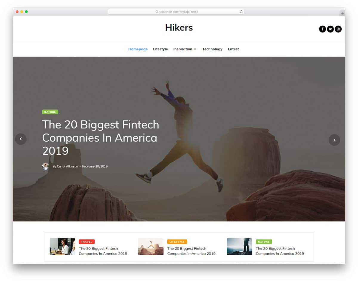 hikers-free-blog-templates