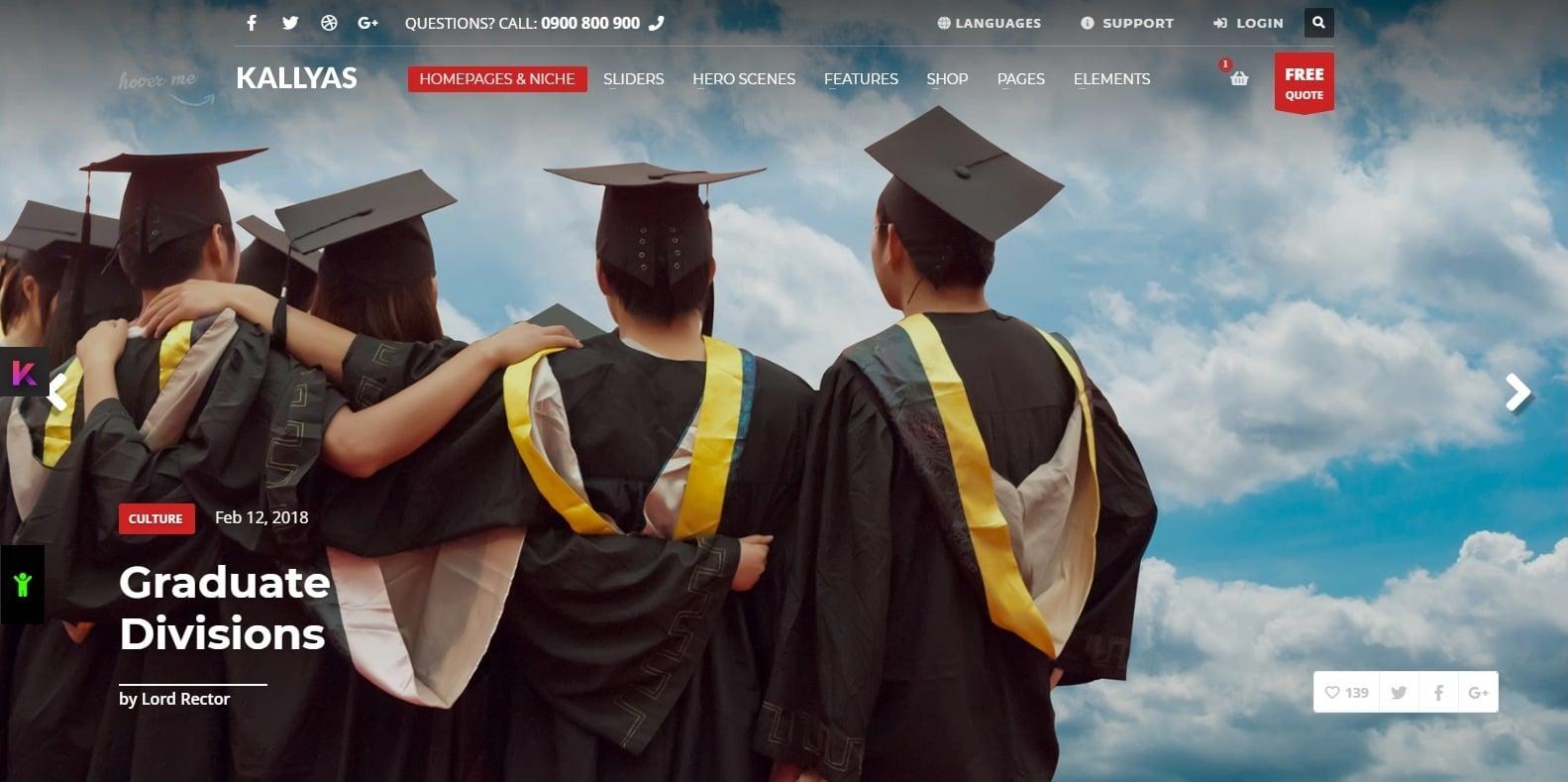 kallyas-education-website-template