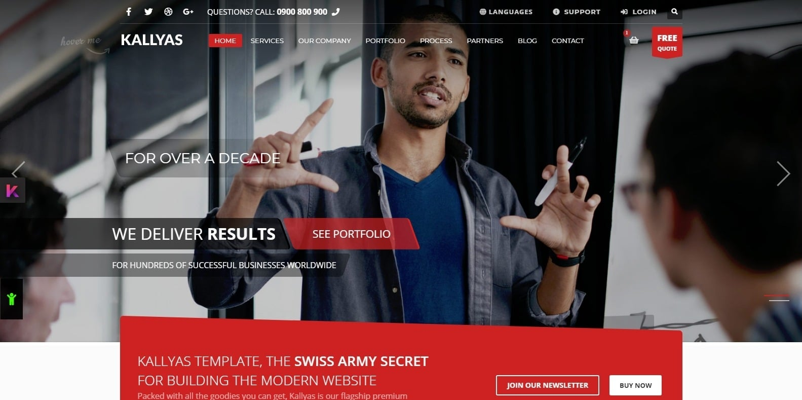 kallyas-shop-website-template