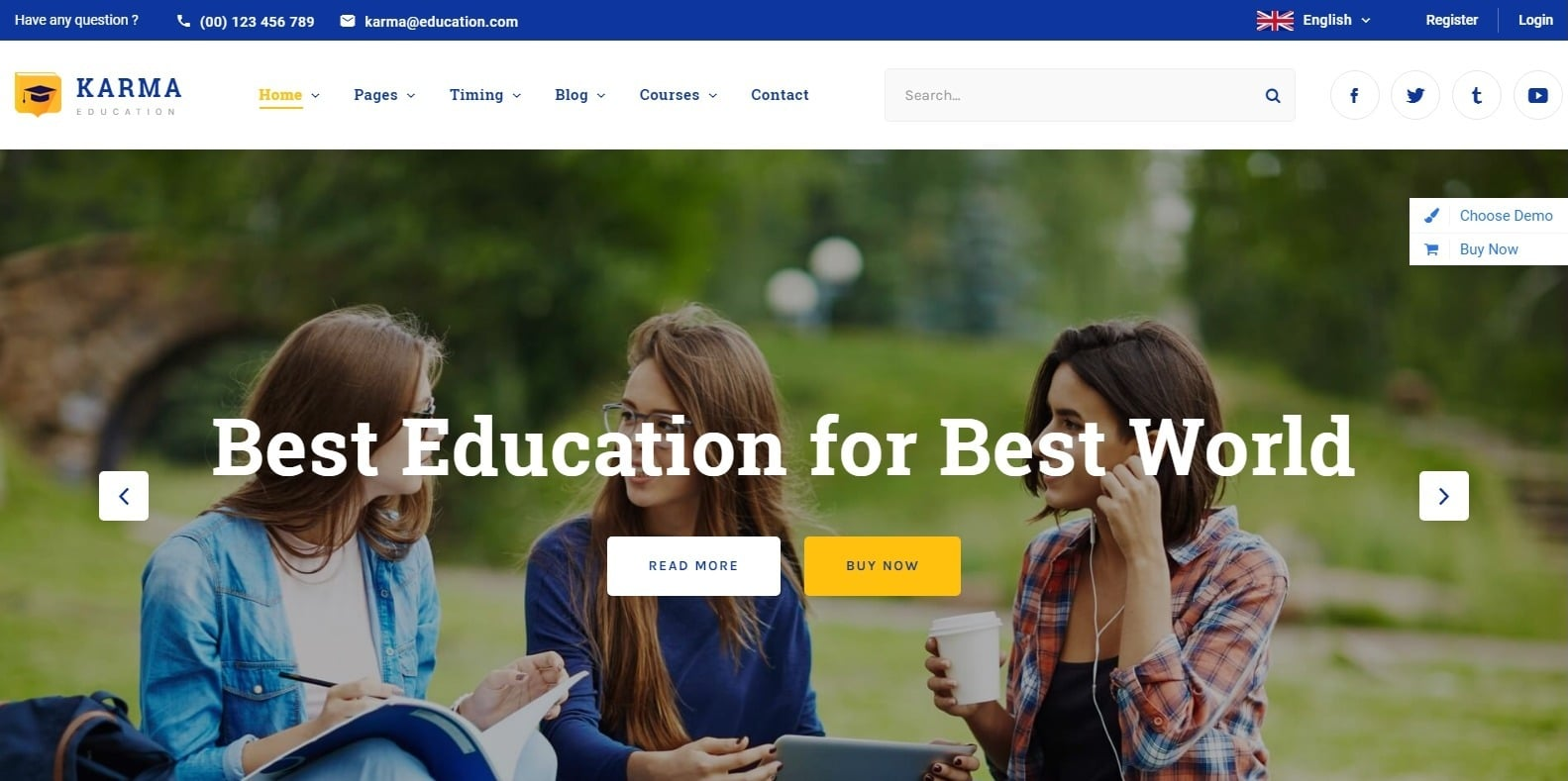 karma-education-website-template