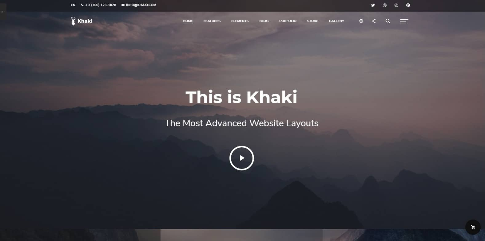 khaki-business-website-template