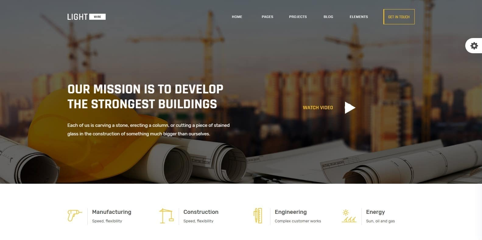 lightwire-construction-website-template