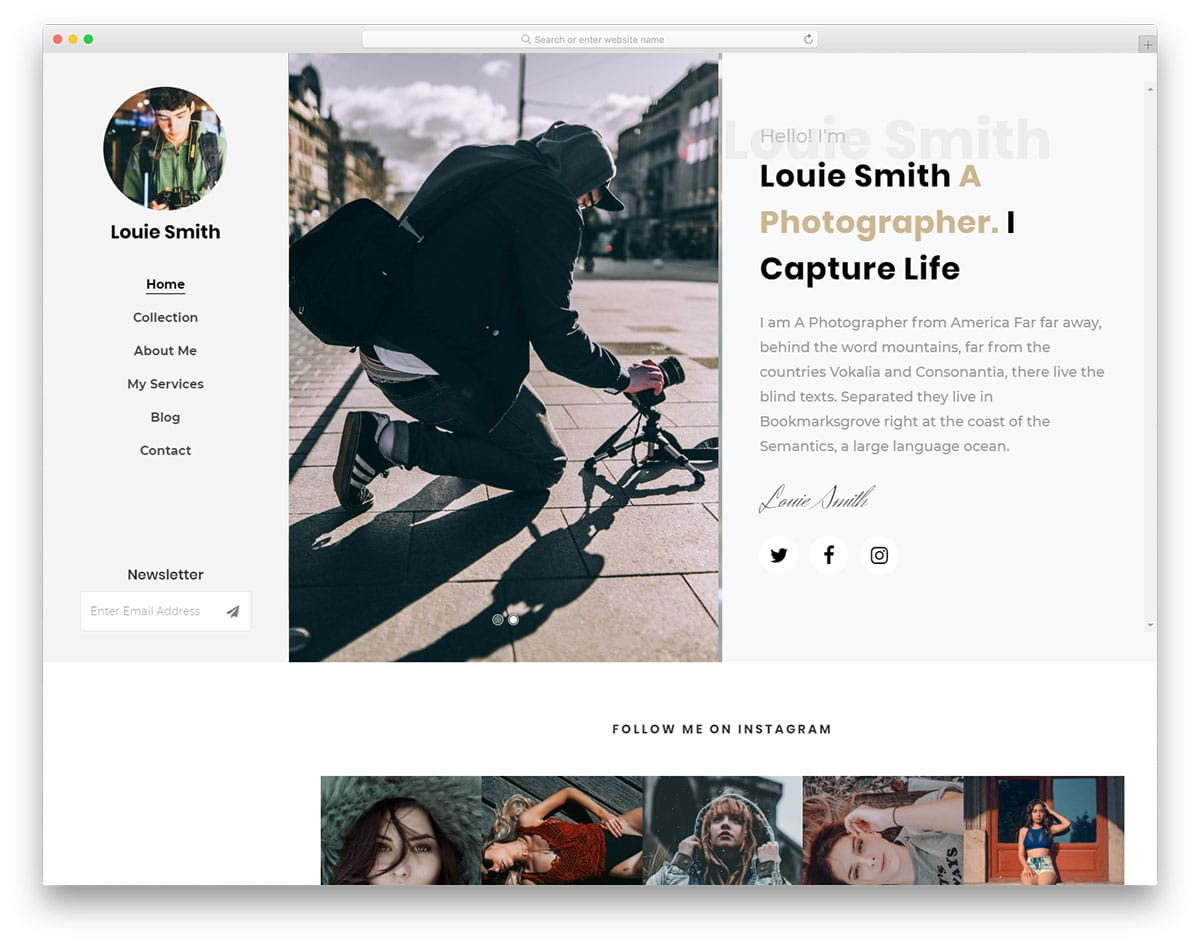 louie-free-personal-website-templates