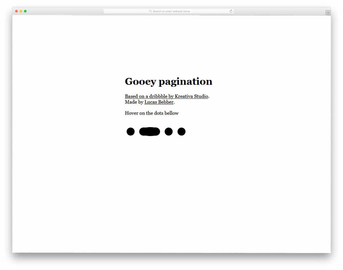 Gooey-Pagination
