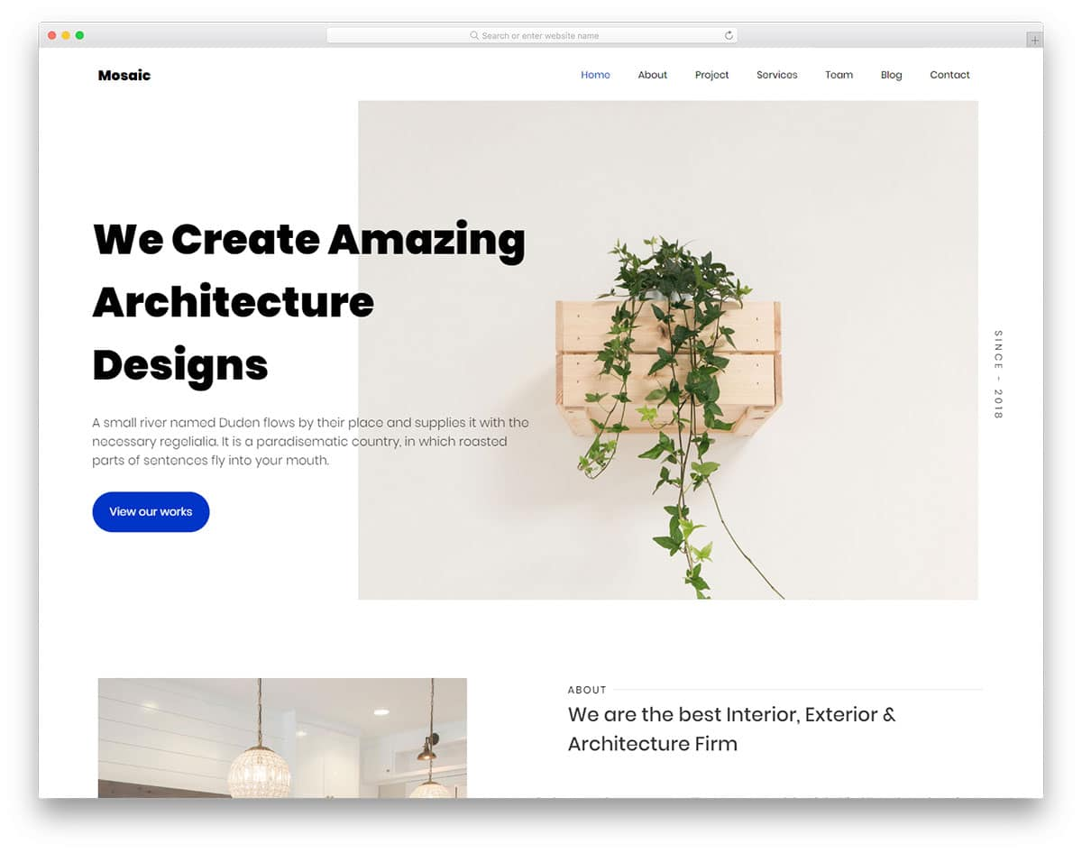 mosaic-free-portfolio-website-templates