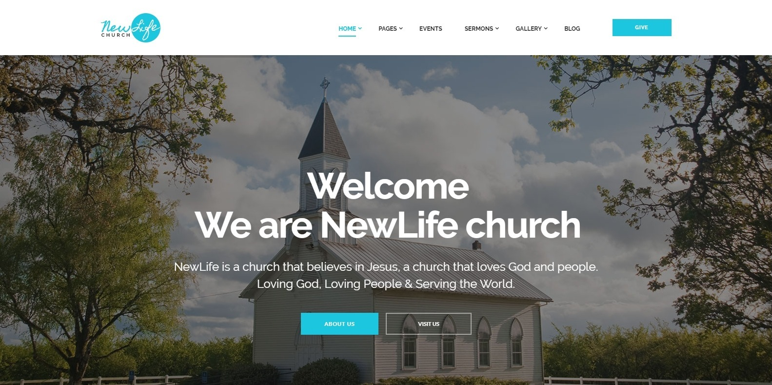 newlife-church-website-template
