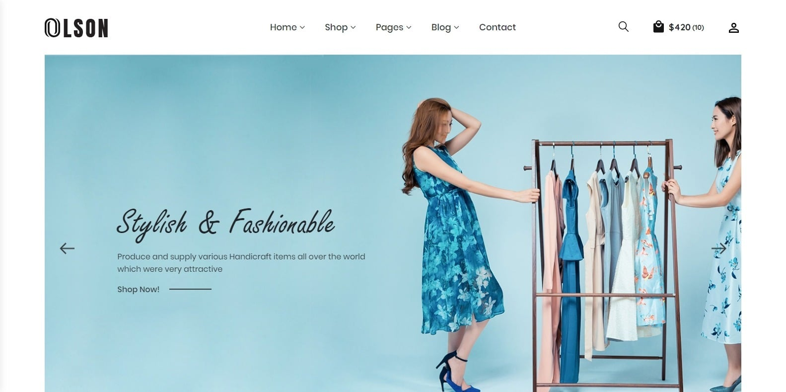 olson-fashion-website-template