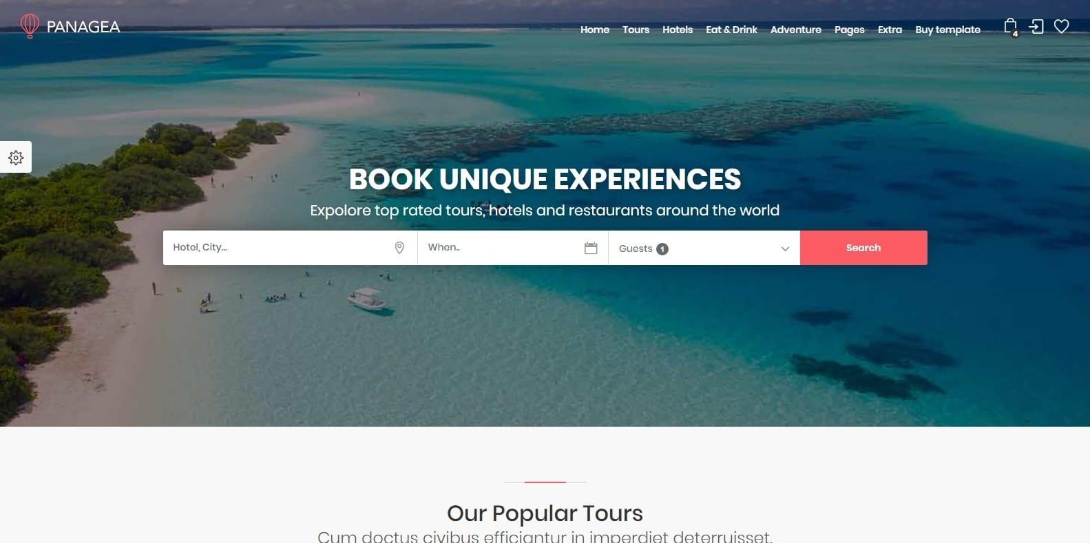 panagea-travel-website-template