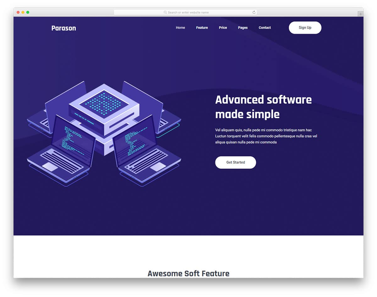 parason-free-landing-page-templates