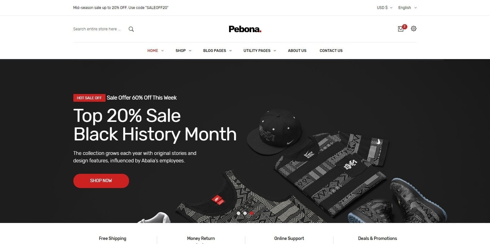 pebona-fashion-website-template