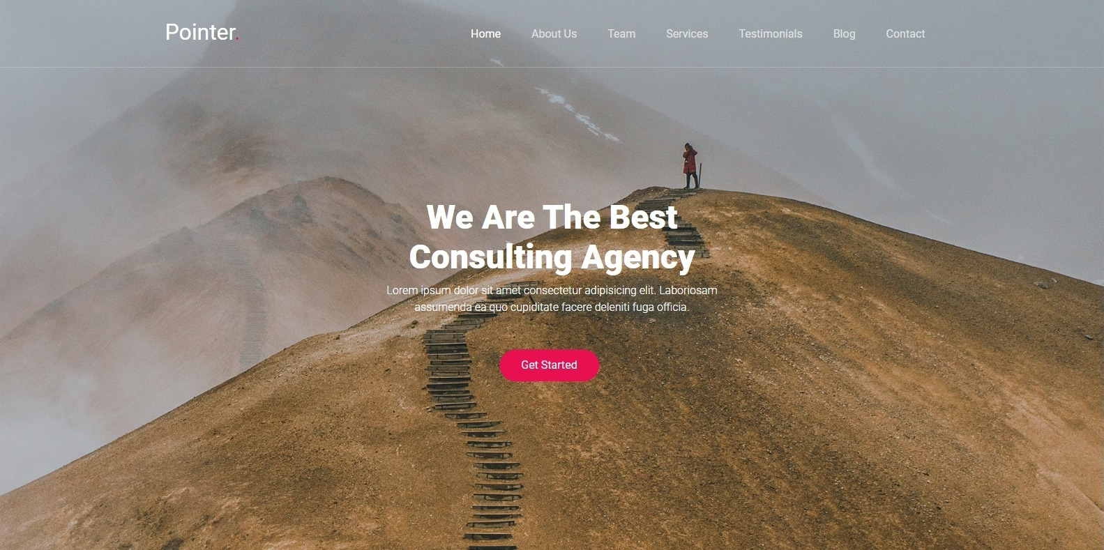 pointer-single-page-website-template