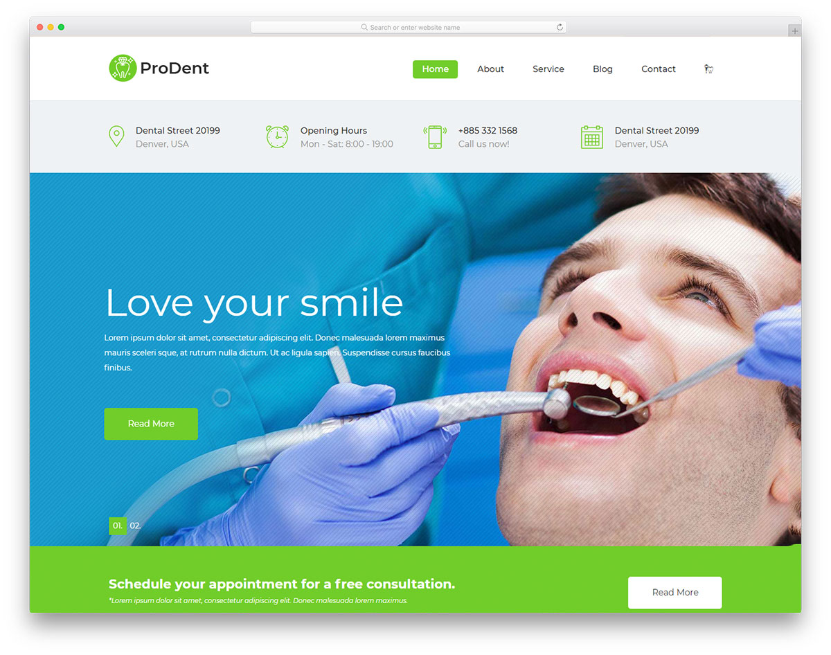 prodent-free-medical-website-templates