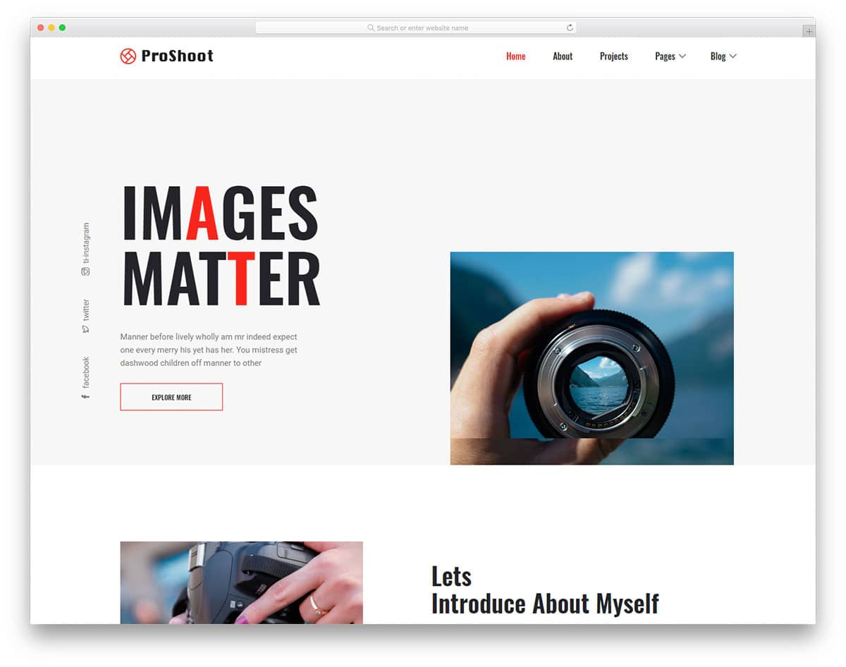 proshoot-free-photography-website-templates