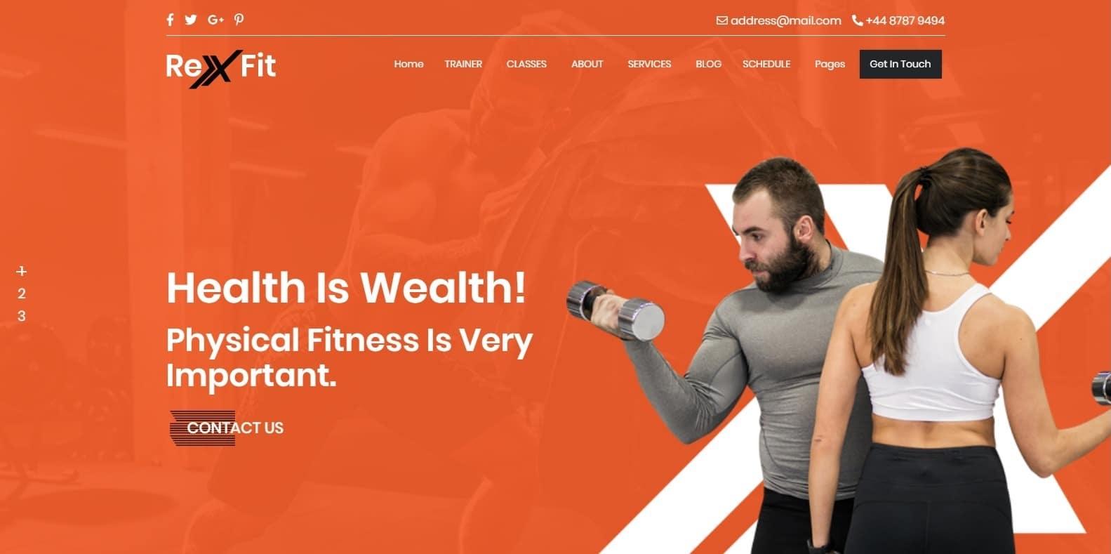rexfit-gym-website-template