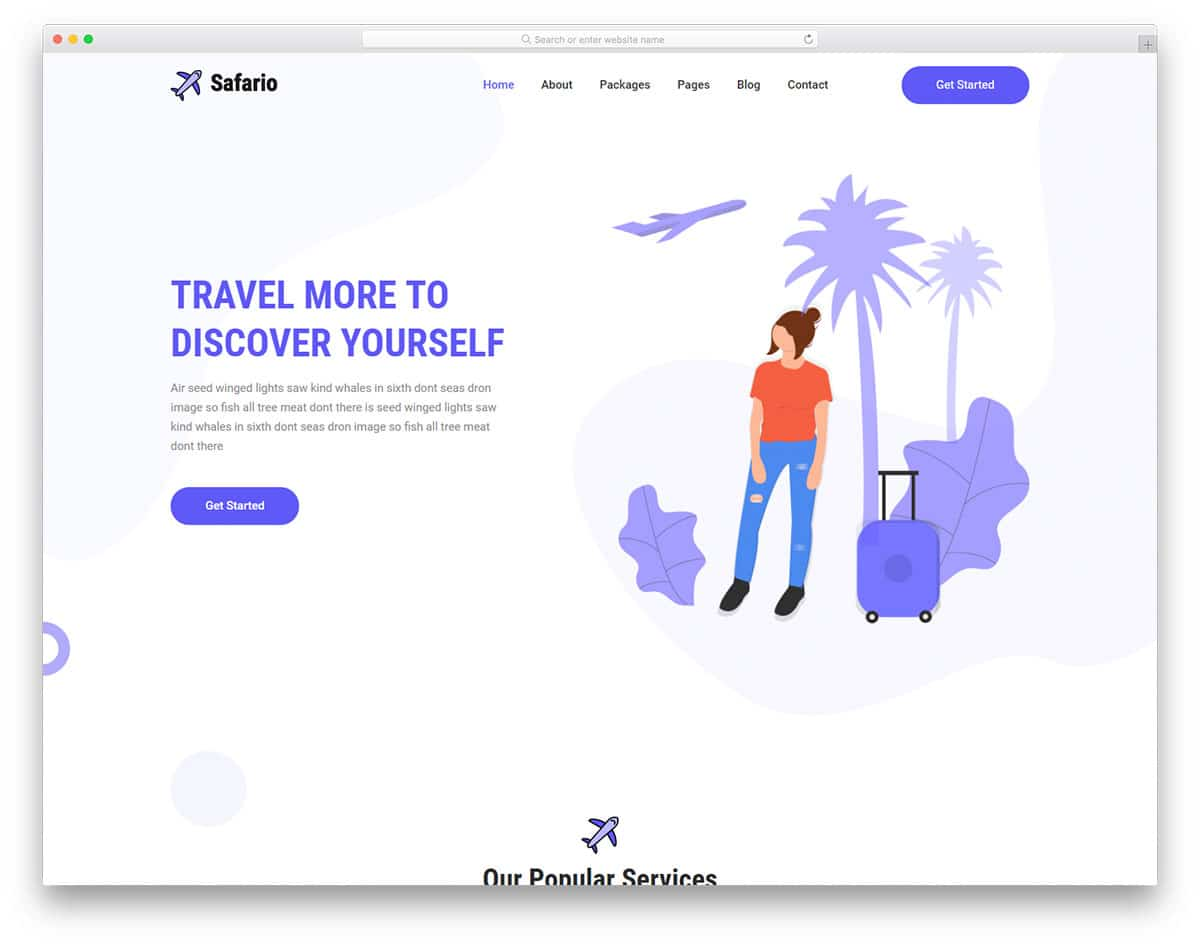safario-free-simple-website-templates