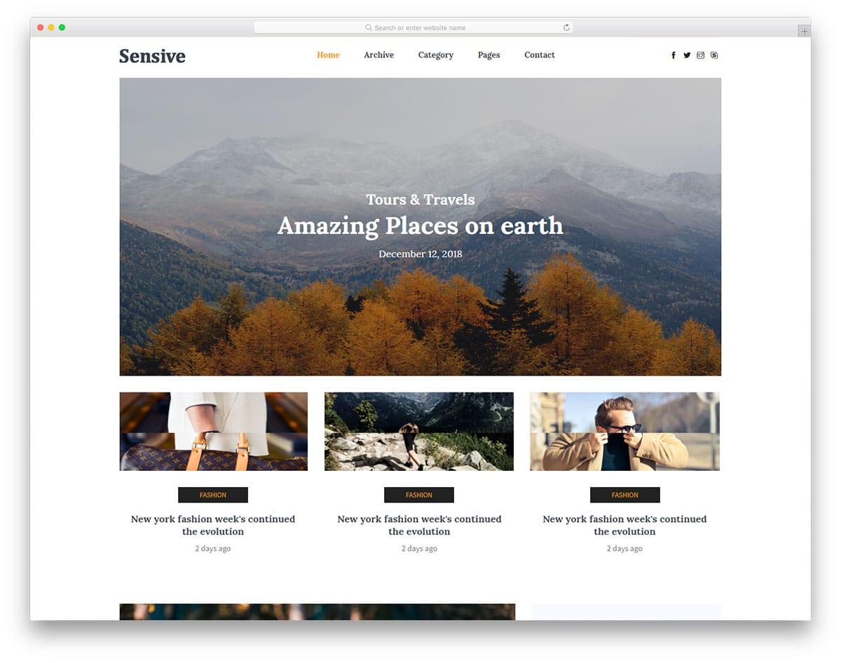 sensive-free-gaming-website-templates
