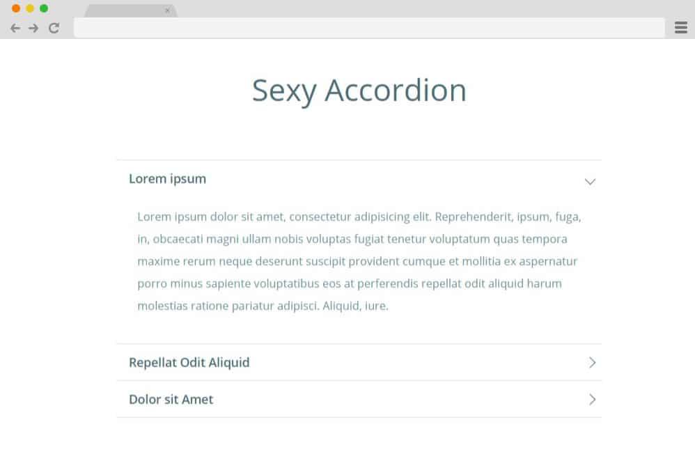 sexy jquery accordion