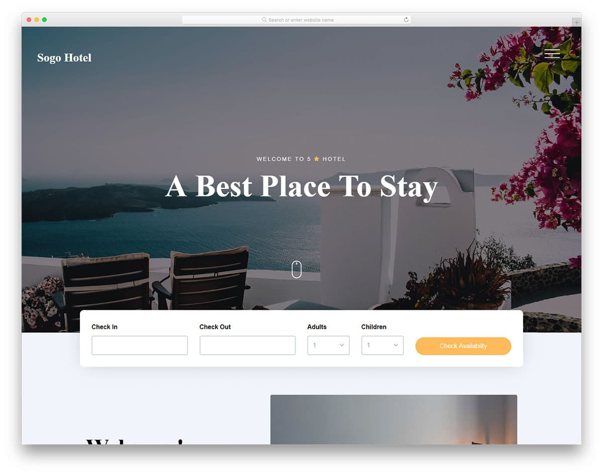 sogo-free-hotel-website-templates