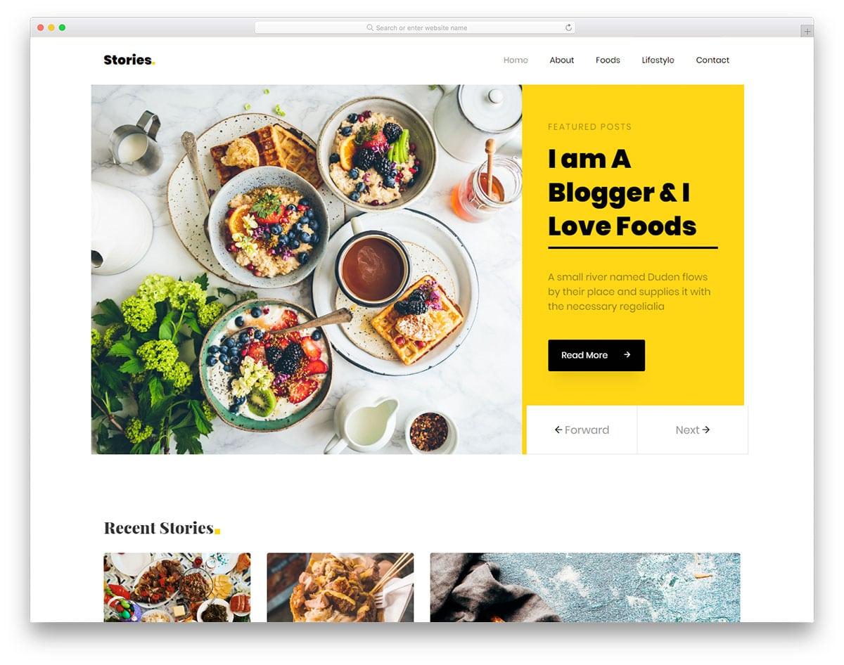 stories-free-responsive-website-templates