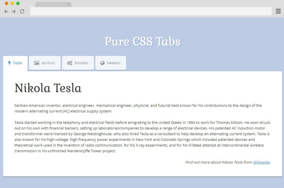 23 CSS Tab Designs For A More Organized And Professional