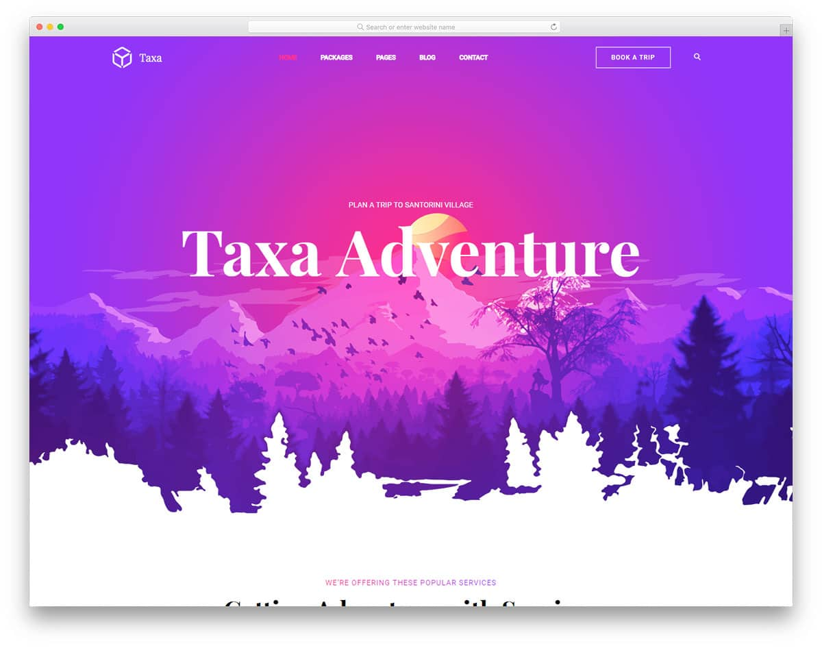 taxa-free-travel-website-templates