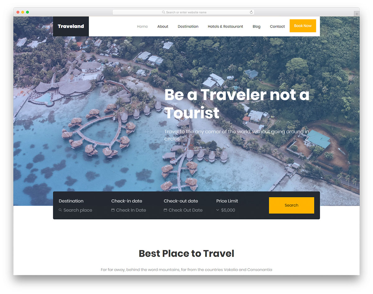 traveland-free-html5-website-templates