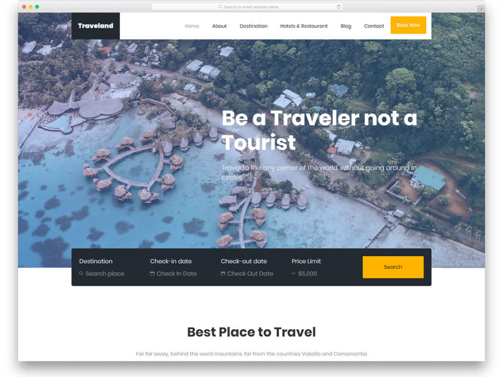 traveland-free-travel-website-templates