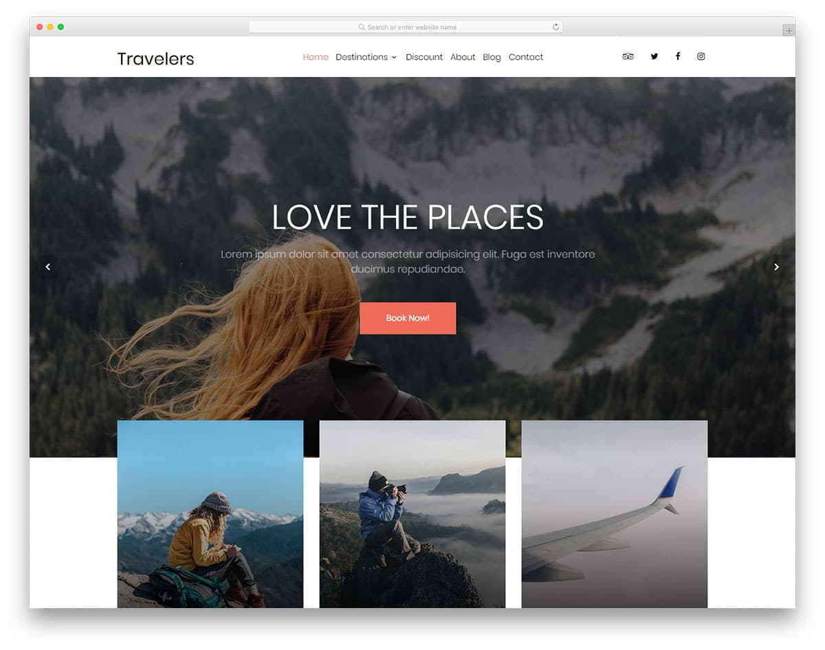 travelers-free-travel-website-templates
