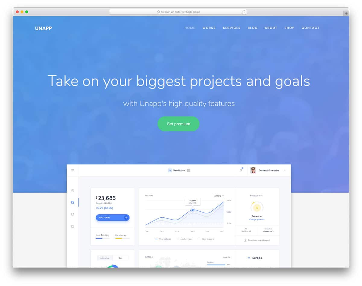 unapp-free-one-page-website-templates