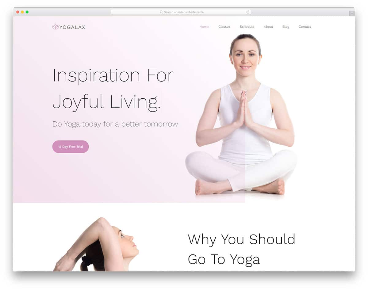 yogalax-free-css-website-templates