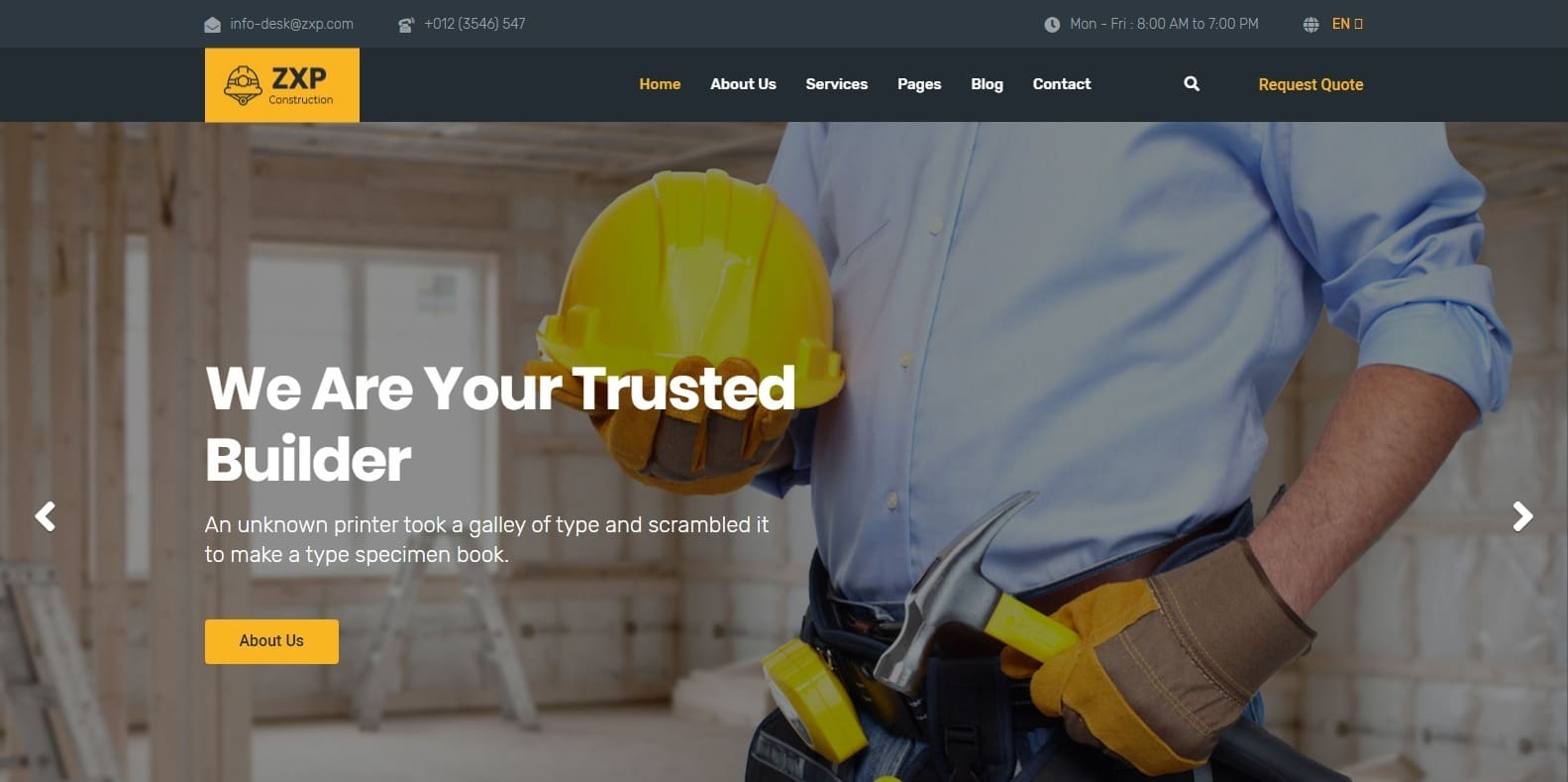 zxp-construction-website-template