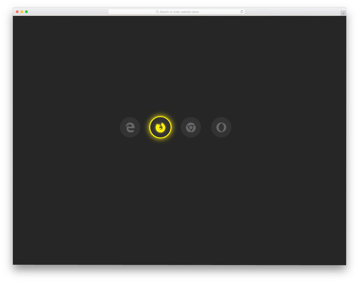 Glowing-Icon-Hover-Effect