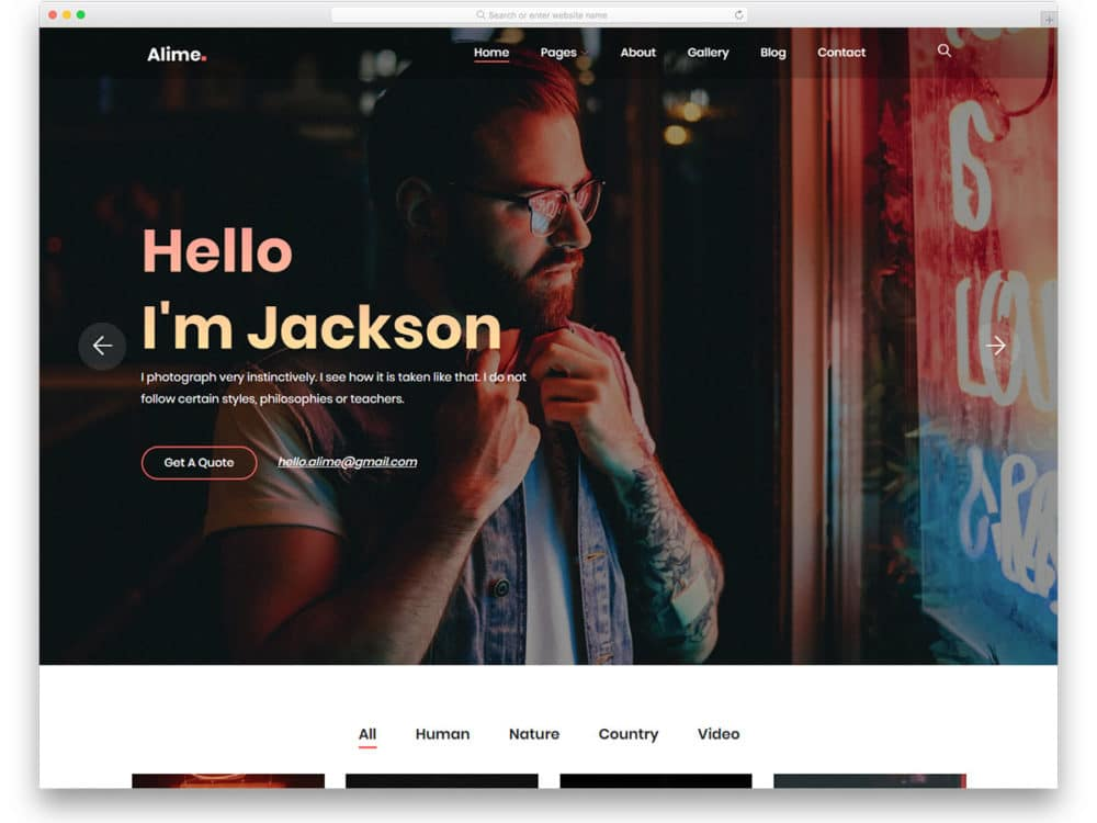 alime-free-freelancer-website-templates