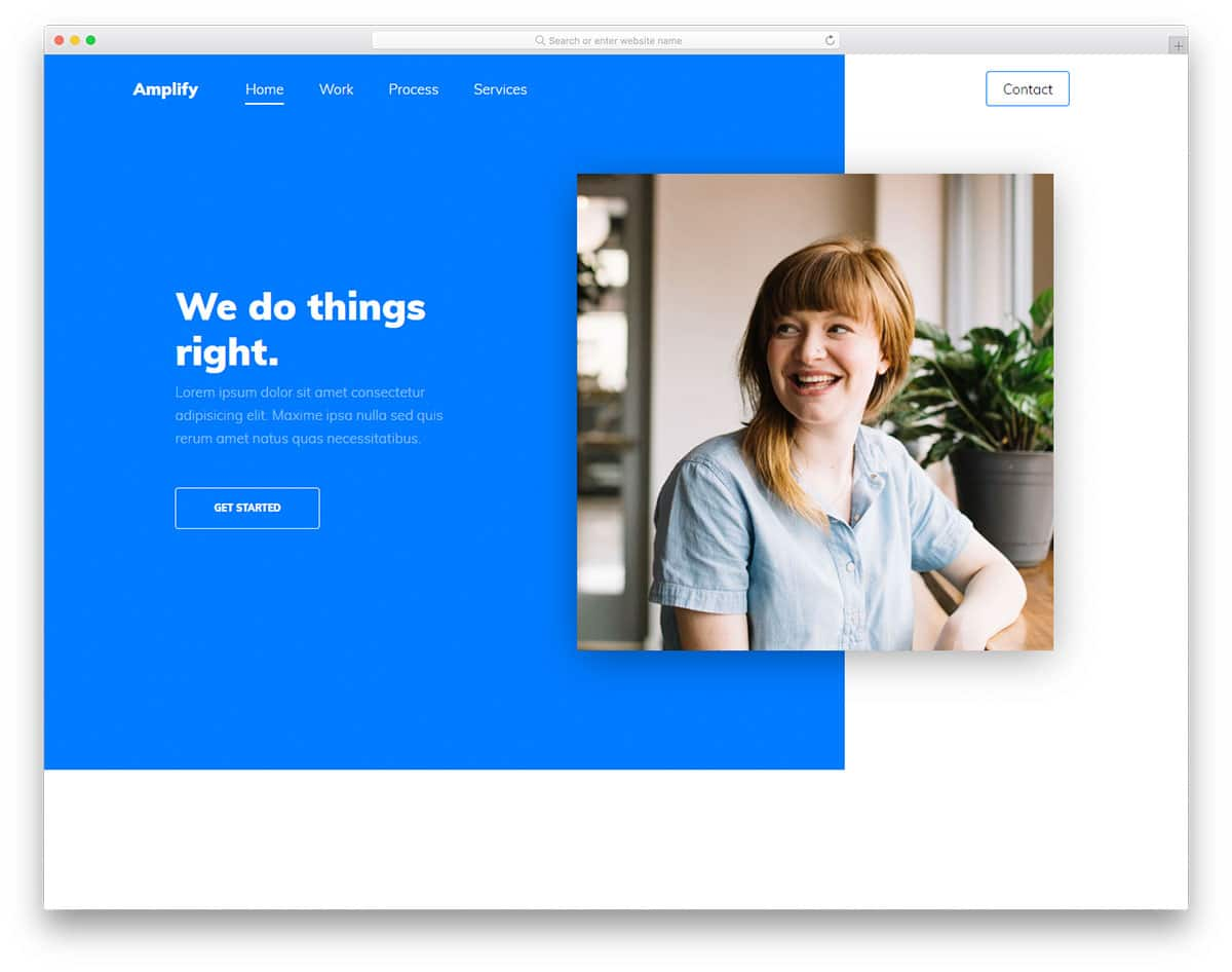 amplify-free-bootstrap-personal-website-template